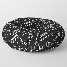 Musical Notes Pattern Floor Pillow