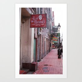 New Orleans - Bourbon Street 2004 Art Print