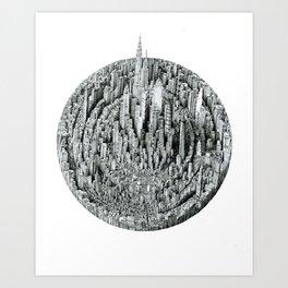 Particle (cityscape) Art Print
