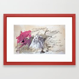 A scribble in Pink Framed Art Print