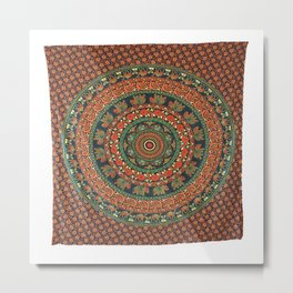 Hippy Printed Wall Tapestry Metal Print
