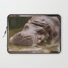 Huge bored Hippopotamus Laptop Sleeve