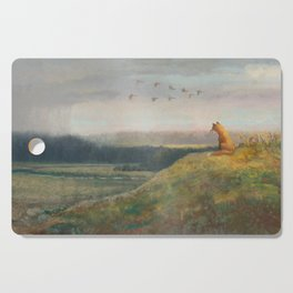 Red Fox Looks Out Over the Valley Cutting Board