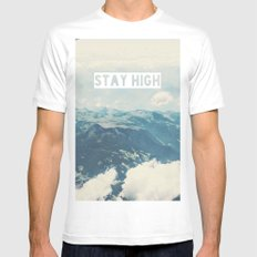 Stay High Mens Fitted Tee LARGE White