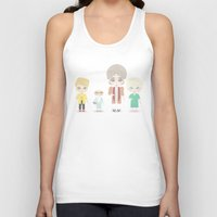 golden girls Tank Tops featuring Girls in their Golden Years by Ricky Kwong