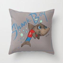 SHARK BOY Throw Pillow