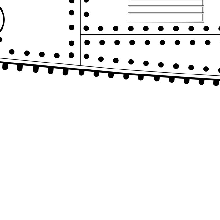 World War One Tank Line Drawing Leggings