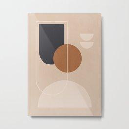 Minimal Abstrac Shapes 3 Metal Print
