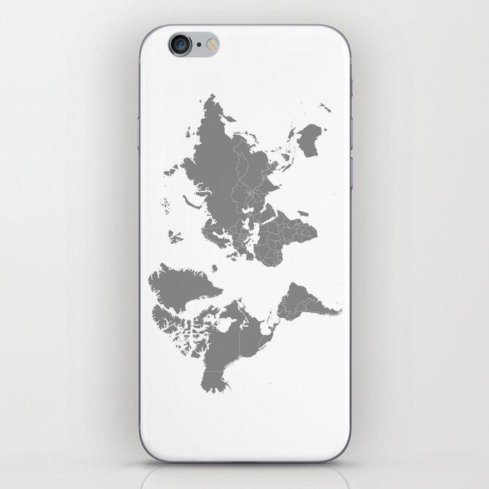 Minimalist world map gray on white background iphone skin by minimalist world map gray on white background iphone skin gumiabroncs Images