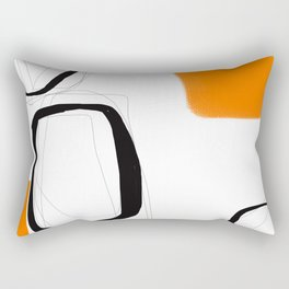 Blocks-Orange Crowd  Rectangular Pillow