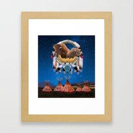 BUFFALO DREAM CATCHER Framed Art Print