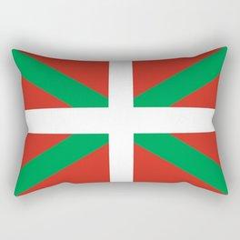 Flag of Euskal Herria-Basque,Pays basque,Vasconia,pais vasco,Bayonne,Dax,Navarre,Bilbao,Pelote,spain Rectangular Pillow