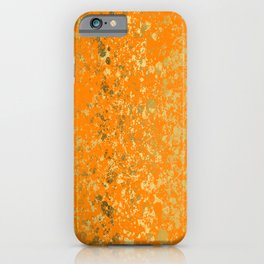 Tennessee Orange and Gold Patina Design iPhone Case