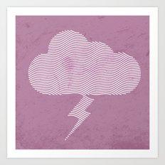 Vexed Cloud Art Print