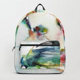 AYN RAND - watercolor portrait Backpack