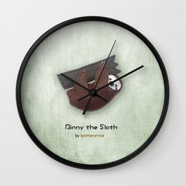 Binny the Sloth by leatherprince Wall Clock