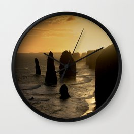 Sunset over the Twelve Apostles Wall Clock