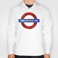 velvet underground Hoodies featuring Underground by Hipogrifos