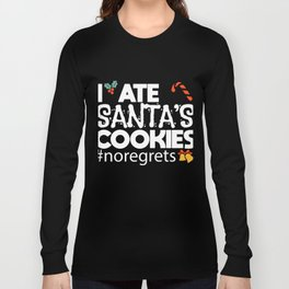 Christmas List Cheeky Kids Biscuits Gift Long Sleeve T-shirt
