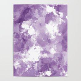 Plum Tie Dye  Poster