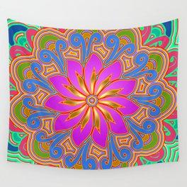 Lotus Bloom Wall Tapestry