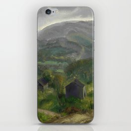 "George Wesley Bellows ""Old Barn - Grey Day"" iPhone Skin"
