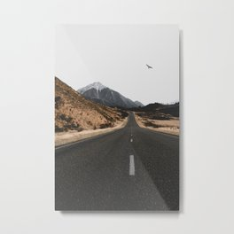 ROAD - BIRD - HILLS Metal Print