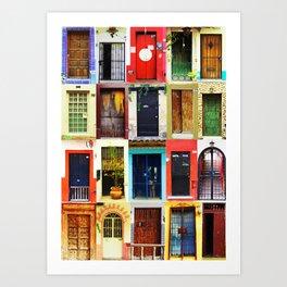 Doors of Mexico Art Print