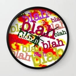 Blah Blah Bling! Wall Clock