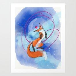 Felize Foxy Art Print