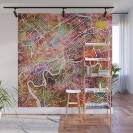 Knoxville map Wall Mural