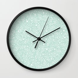 Floral twigs delicate background Wall Clock