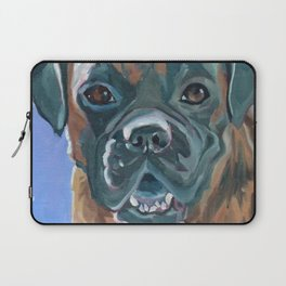 Boone the Boxer Dog Portrait Laptop Sleeve