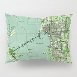Vintage map of Sarasota Florida (1944) Pillow Sham