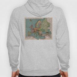 Vintage Map of Europe (1921) Hoody