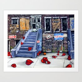 Broken Blvd Art Print