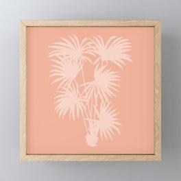 Palm Silhouette | Peachy Pink Framed Mini Art Print