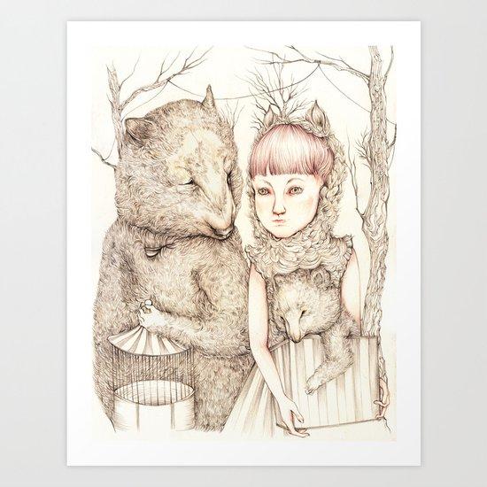 Circus Bears Art Print