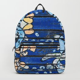 Wooden fish - Old Distressed Picnic Table Backpack