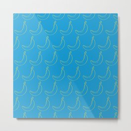 Blue Bananas Metal Print