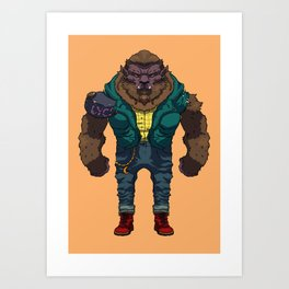 The Wolf man Art Print