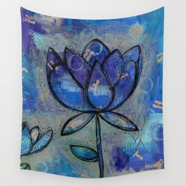 Abstract - Lotus flower - Intuitive Wall Tapestry