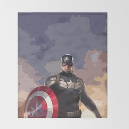 Captain of America Throw Blanket