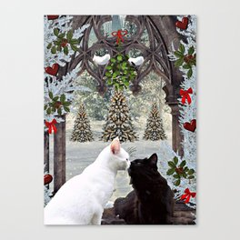 Christmas Kitties Canvas Print