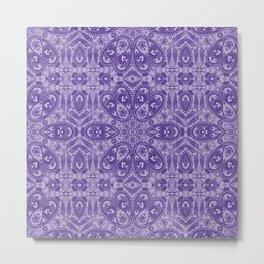 ultra violet paisley Metal Print