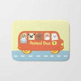 Animal bus no.9 Bath Mat