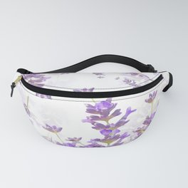 Lavender Bouquets On White Background #decor #society6 #buyart Fanny Pack