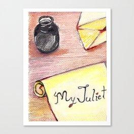 Romeo's Letter Canvas Print