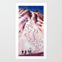 Apres Alpenglow Art Print