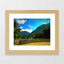 Mismaloya River Fishing Boats Framed Art Print